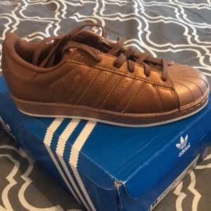 NWT:  Adidas Superstar in Unique Copper!